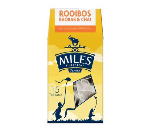 Rooibos, Baobab & Chai 15 Premium Tea Kites