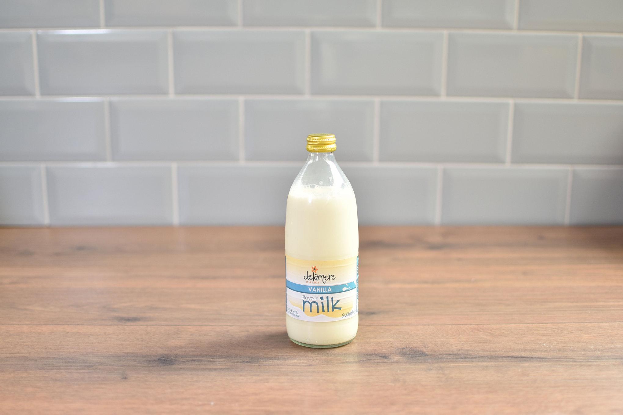 Delamere Vanilla Milk - 500ml Glass Bottle