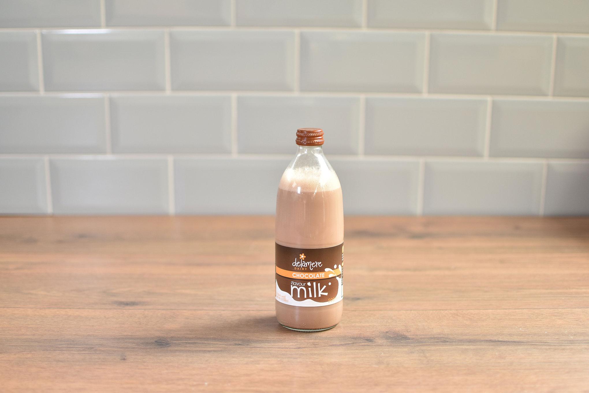Delamere Chocolate Milk - 500ml Glass Bottle