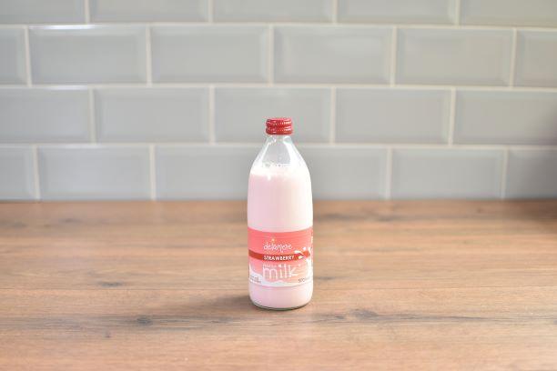 Delamere Strawberry Milk - 500ml - Glass Bottle