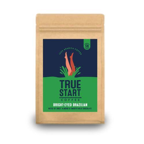 TrueStart Hand Roasted Ground Coffee - Bright Eyed Brazilian 200g