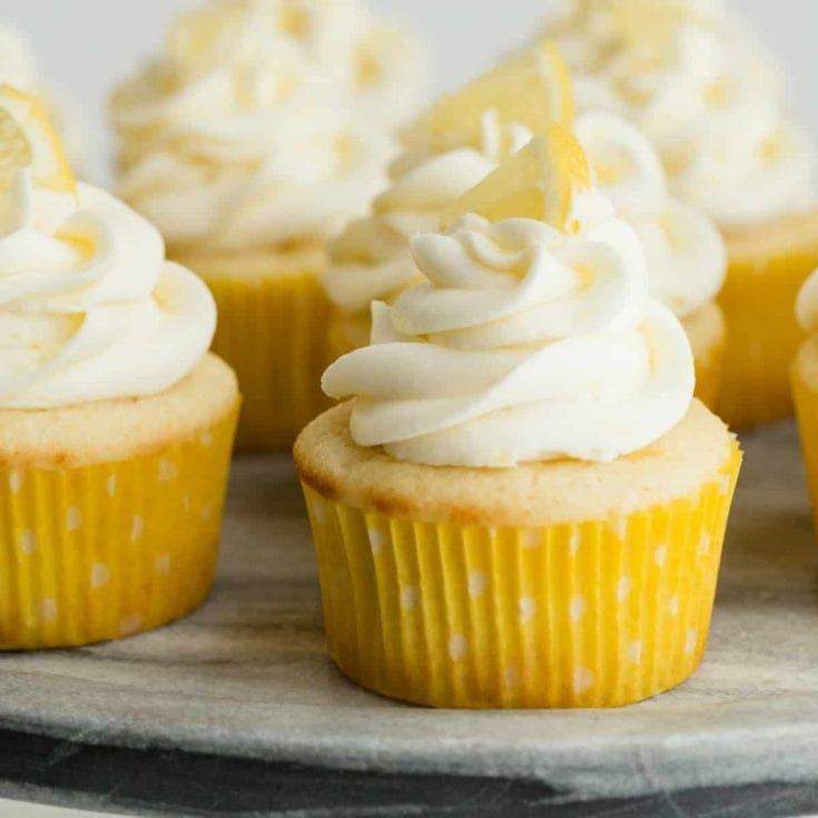 Lemon Cupcakes - pack of 4