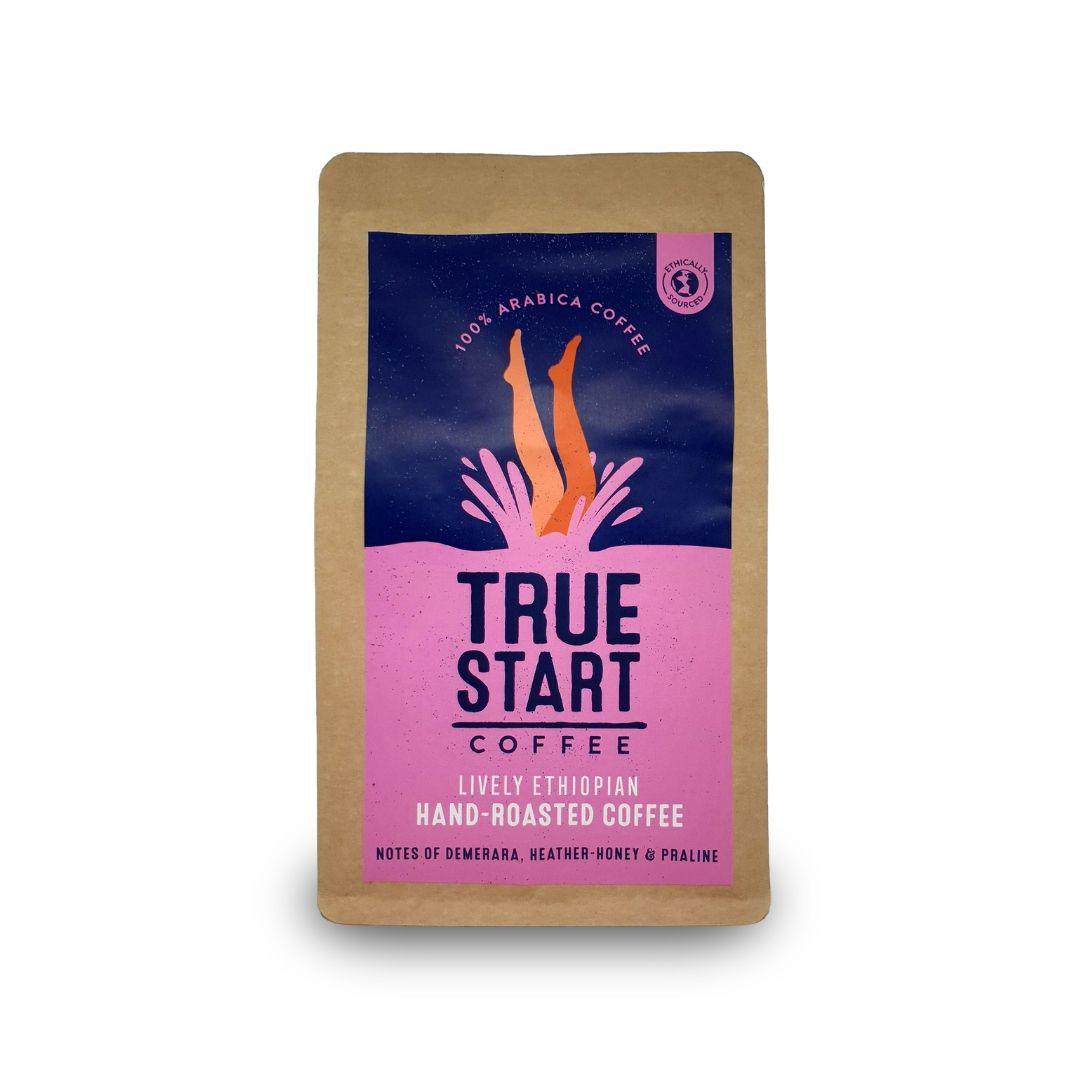 TrueStart Hand-Roasted Ground Coffee  - Organic Lively Ethiopian - 200g
