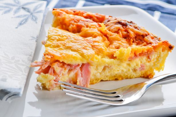 Large Cheese & Ham Quiche - 8""
