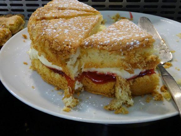 Jam & Cream Sponge Cake