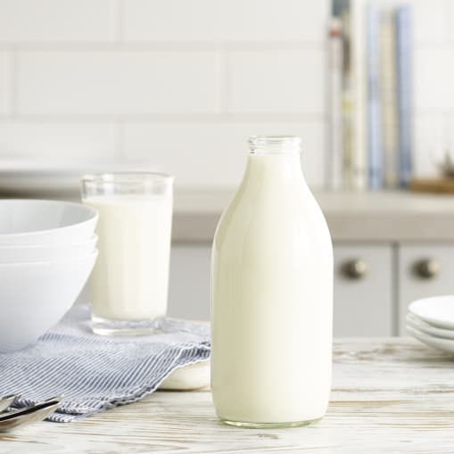 Glass Bottled Skimmed Milk - 1 pint