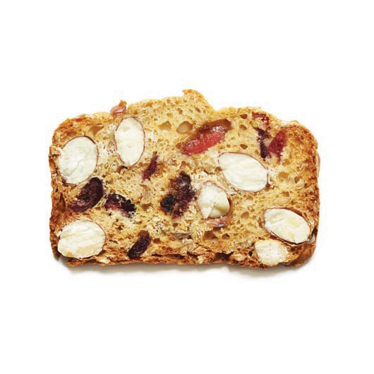 Toast for Cheese Cherries, Almonds and Linseeds