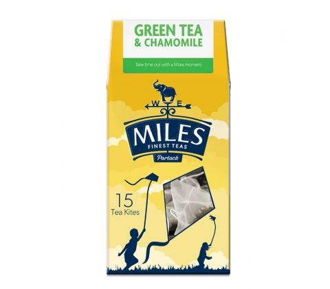 Green tea & Chamomile 15 Premium Tea Kites