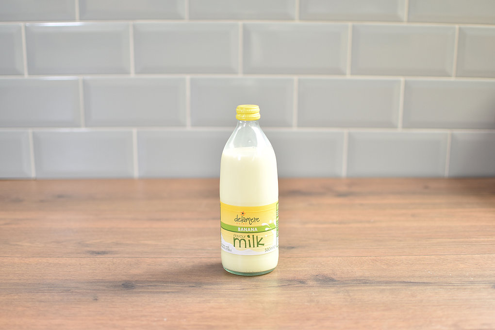 Delamere Banana Milk - 500ml Glass Bottle