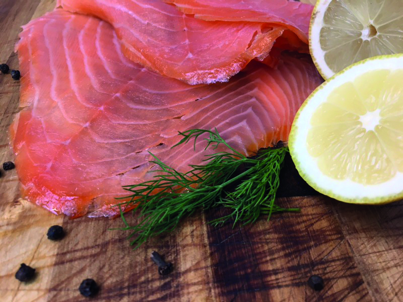 Blakewell's Wicked Wolf Gin Cured Smoked Salmon - 100g
