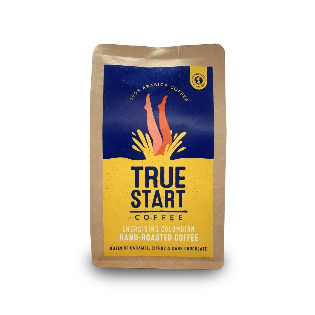 TrueStart Hand-Roasted Ground Coffee - Energising Colombian - 200g