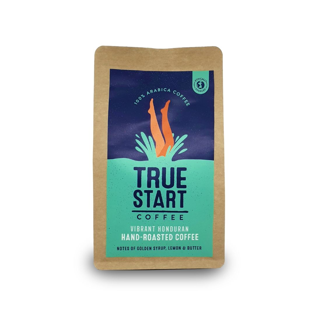 TrueStart Hand-Roasted Ground Coffee  - Organic Vibrant Honduran - 200g