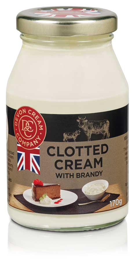 Devon Clotted Cream with Brandy - 170g