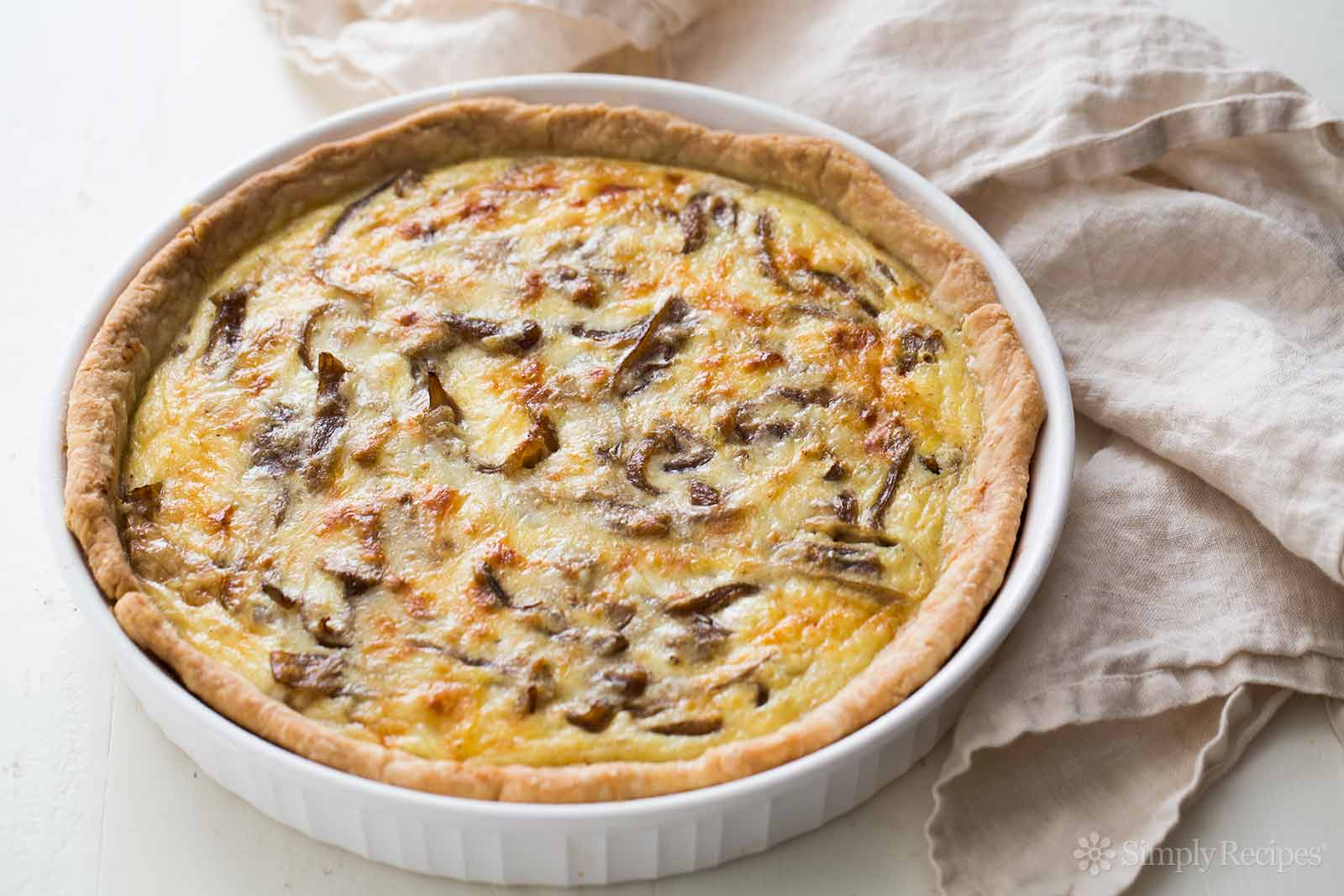 Large Cheese & Onion Quiche - 8""