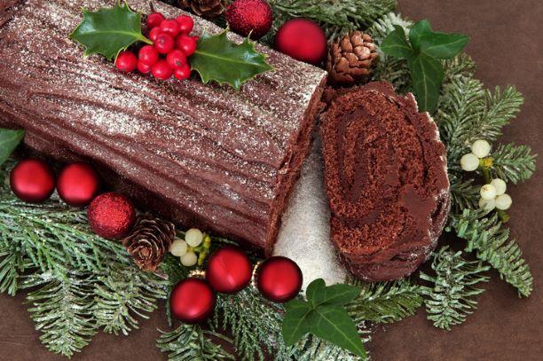 Christmas Chocolate Log - 10 inch