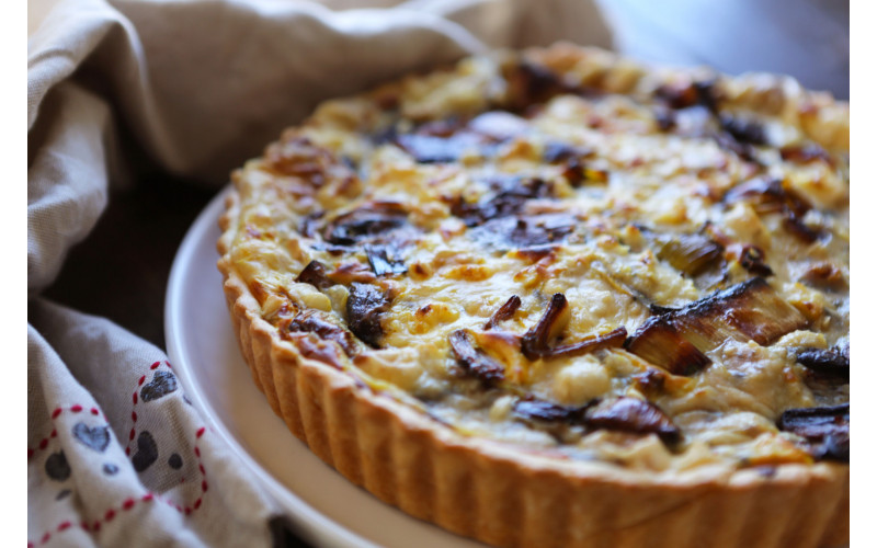 Large Cheese & Mushroom Quiche - 8""
