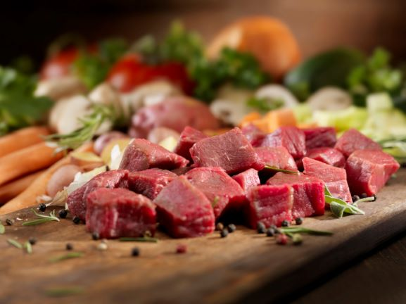 Beef Diced Stewing Steak - per 450g